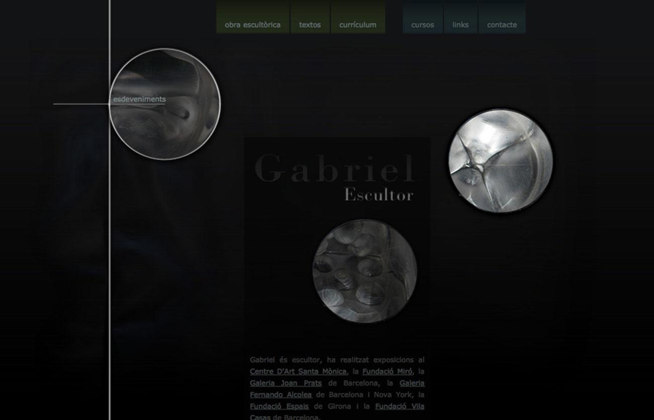 Chiara Lera - Gabriel Escultor, sito web - 2010