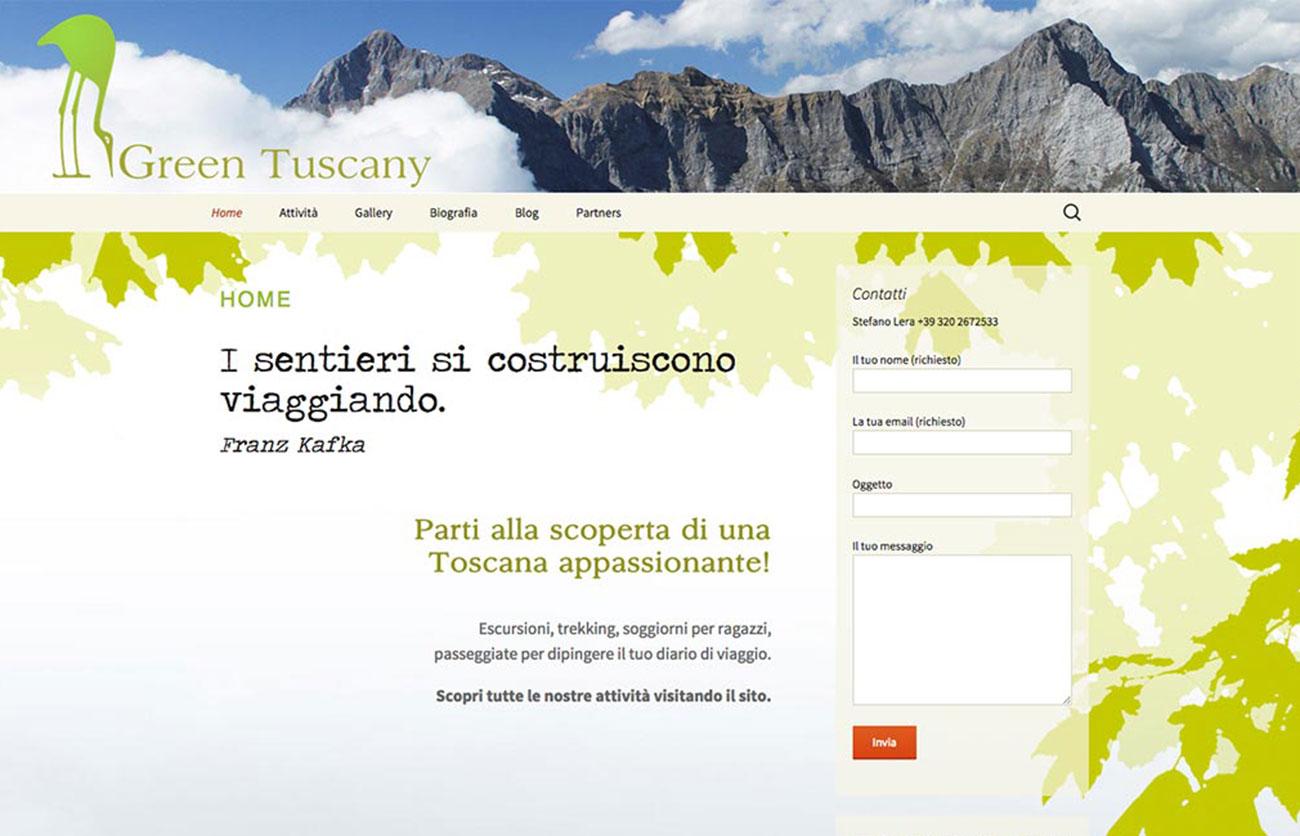 Chiara Lera - Green Tuscany, sito web - 2013