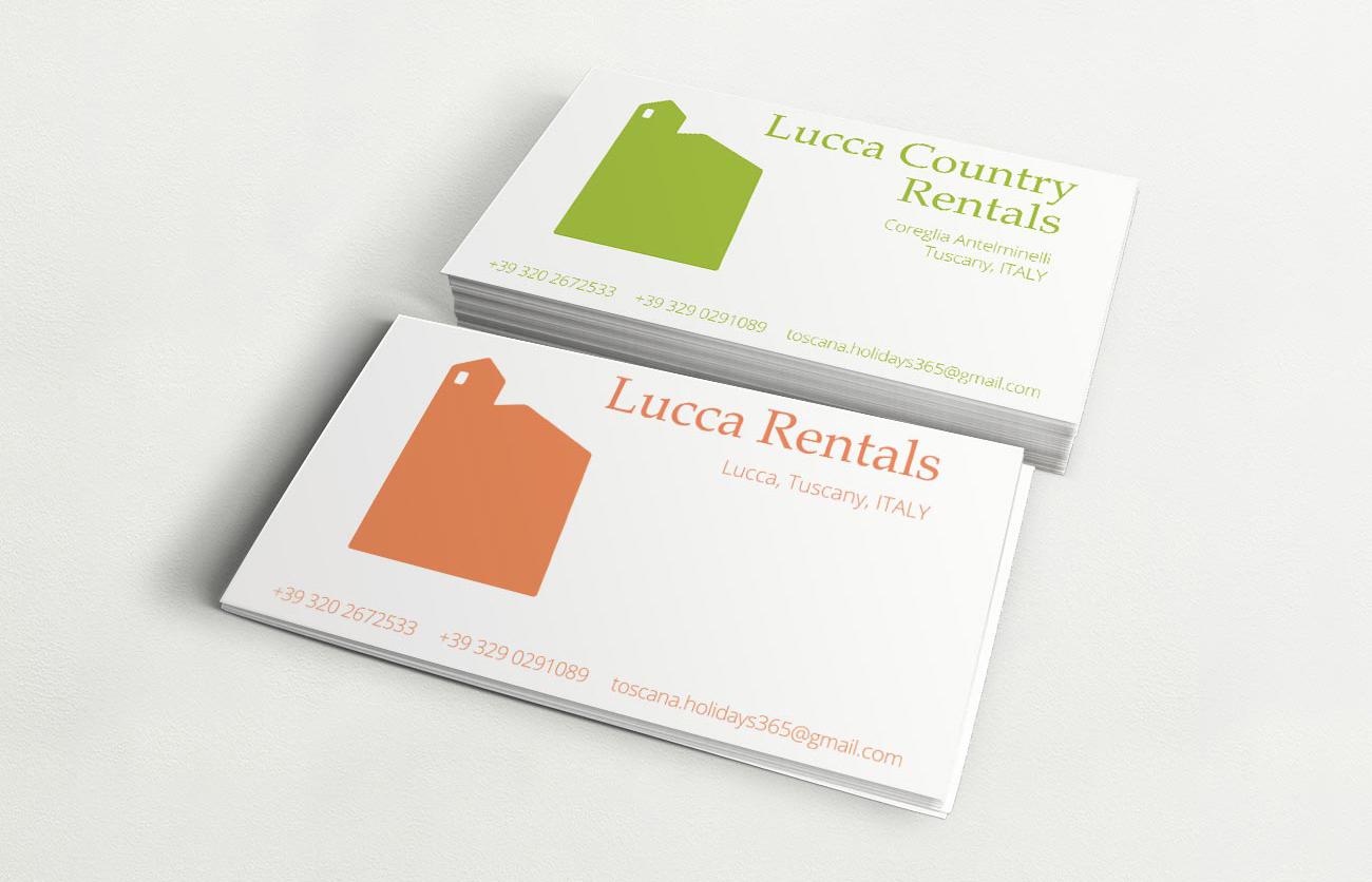 Chiara Lera - Lucca Rentals, biglietti da visita - 2014
